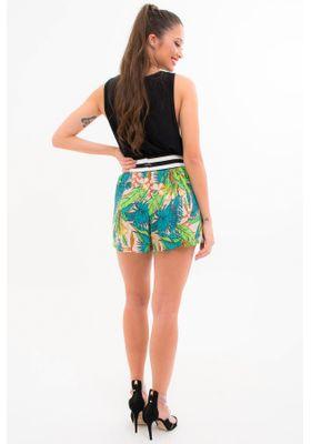 short-floral-viscose-com-listras