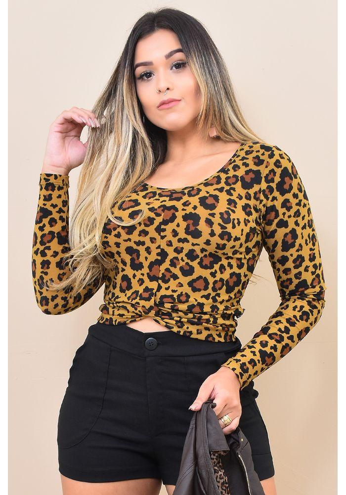 85e29dbe6 Blusa Trançada Malha Fria Oncinha - Atacado e Revenda de Moda Feminina -  RDLay